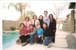 Visitors at the Chandler, Arizona home of Olive Roldan:Front row - Dolly, Merci, Joy & Esther. Standing- Shirley,Nilda,