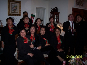 Elsie and Rudy doing a harana duet at Ed Cleofe's house on 12/8/07 in Mission Viejo.