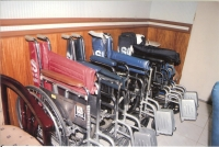 In November, 2007 Elsie Amansec delivered 22 wheelchairs to Oriental Mindoro. for more pictures, please go to the Photo