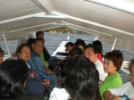 A boat ride after the medical mission in Puerto. Some jumped into the water to snorkle.